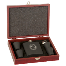 6 oz Flask Set in Wood Presentation Box